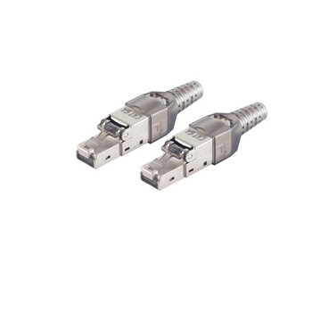 2x cat. 6A Tool-less RJ45 Stecker  geschirmt